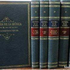 Libros de segunda mano: HISTORIA DE LA MÚSICA A CARGO DE LA SOCIEDAD ITALIANA DE MUSICOLOGÍA TOMOS DEL I AL VII. ED. TURNER.. Lote 176339993