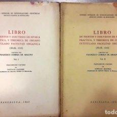 Libros de segunda mano: LIBRO DE TIENTOS Y DISCURSOS DE MÚSICA PRÁCTICA Y THEORICA DE ÓRGANO... 2 VOLS. (CORREA DE ARAUXO). Lote 176808489