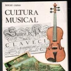 Libros de segunda mano: CULTURA MUSICAL. TERCER CURSO. Lote 177761635