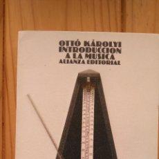 Libros de segunda mano: INTRODUCCIÓN A LA MÚSICA. Lote 178859355