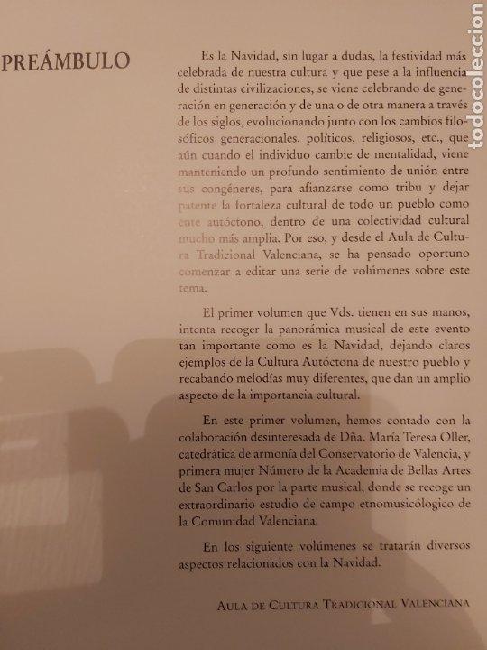 Libros de segunda mano: LA CANCIÓN NAVIDEÑA EN EL FOLCLORE MUSICAL VALENCIANO. VOL 1. ED. UPV. Nuevo - Foto 4 - 179339922
