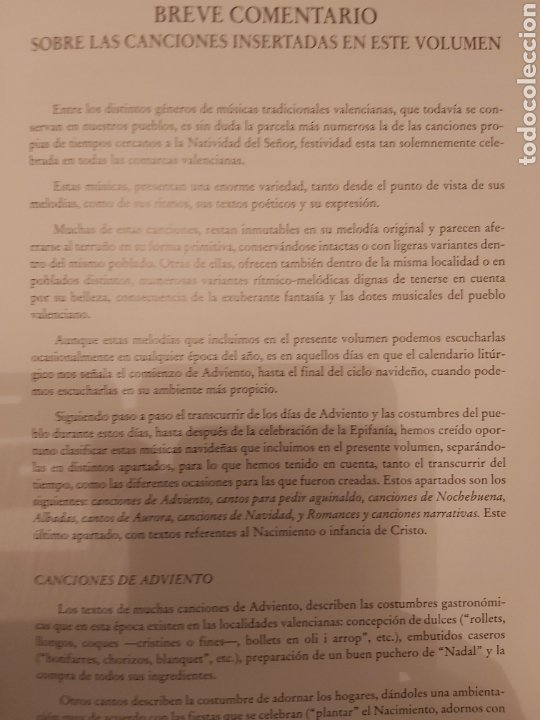 Libros de segunda mano: LA CANCIÓN NAVIDEÑA EN EL FOLCLORE MUSICAL VALENCIANO. VOL 1. ED. UPV. Nuevo - Foto 5 - 179339922