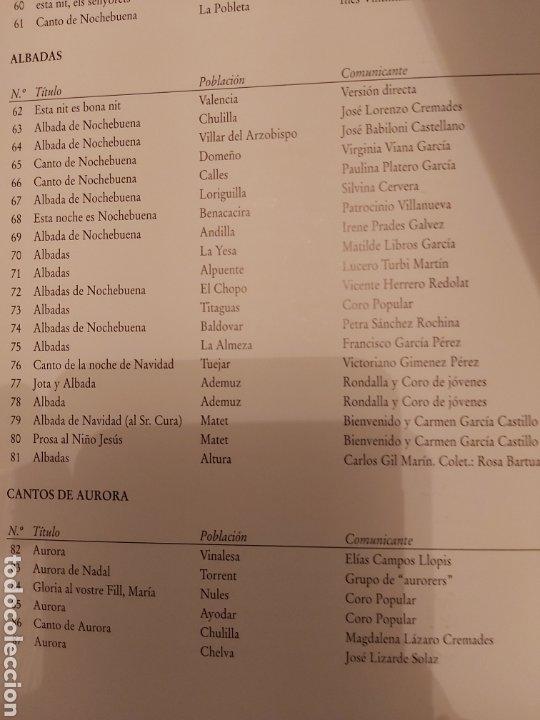 Libros de segunda mano: LA CANCIÓN NAVIDEÑA EN EL FOLCLORE MUSICAL VALENCIANO. VOL 1. ED. UPV. Nuevo - Foto 10 - 179339922