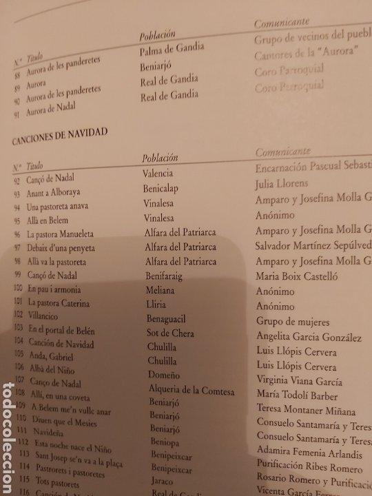 Libros de segunda mano: LA CANCIÓN NAVIDEÑA EN EL FOLCLORE MUSICAL VALENCIANO. VOL 1. ED. UPV. Nuevo - Foto 11 - 179339922