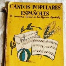 Libros de segunda mano: CANTOS POPULARES ESPAÑOLES, 32 CANCIONES TÍPICAS DE LAS REGIONES ESPAÑOLAS - EDITORIAL ROMA. Lote 180862482
