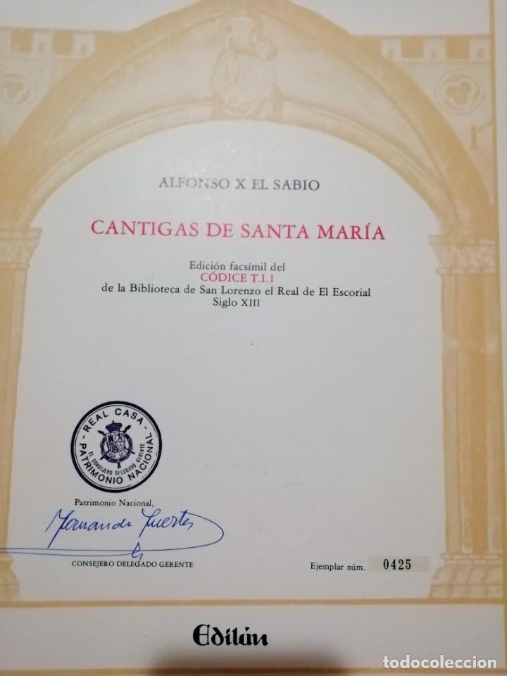 Libros de segunda mano: CANTIGAS DE SANTA MARIA DE ALFONSO X EL SABIO, códice rico de El Escorial, s. XIII - Foto 3 - 180891017