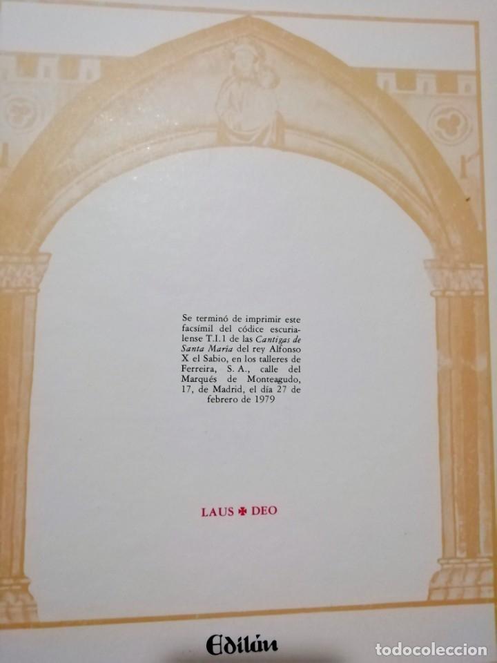 Libros de segunda mano: CANTIGAS DE SANTA MARIA DE ALFONSO X EL SABIO, códice rico de El Escorial, s. XIII - Foto 7 - 180891017