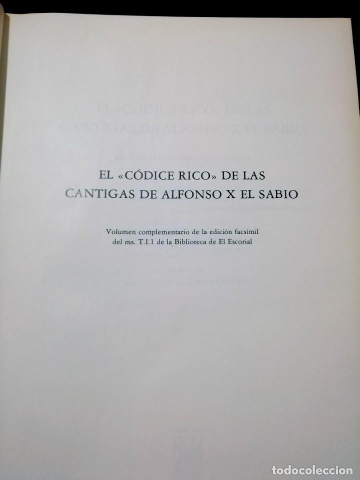 Libros de segunda mano: CANTIGAS DE SANTA MARIA DE ALFONSO X EL SABIO, códice rico de El Escorial, s. XIII - Foto 8 - 180891017