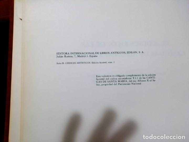Libros de segunda mano: CANTIGAS DE SANTA MARIA DE ALFONSO X EL SABIO, códice rico de El Escorial, s. XIII - Foto 9 - 180891017