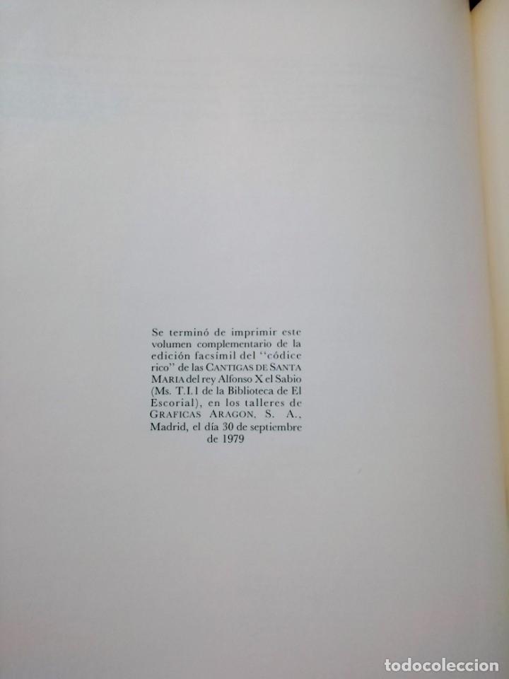 Libros de segunda mano: CANTIGAS DE SANTA MARIA DE ALFONSO X EL SABIO, códice rico de El Escorial, s. XIII - Foto 12 - 180891017