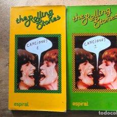 Libros de segunda mano: THE ROLLING STONES. CANCIONES 1 Y 2. ESPIRAL. . Lote 181015540