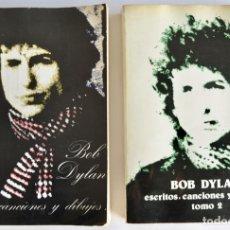 Libros de segunda mano: BOB DYLAN. ESCRITOS, CANCIONES Y DIBUJOS. TOMOS I Y II. EDITORIAL R. AGUILERA. 1ª ED. 1975. Lote 181775038