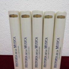 Libros de segunda mano: HISTORIA DE LA MÚSICA. COLECCIÓN DE 5 TOMOS. EDITORIAL EUROLIBER. AÑO 1993.. Lote 182464902