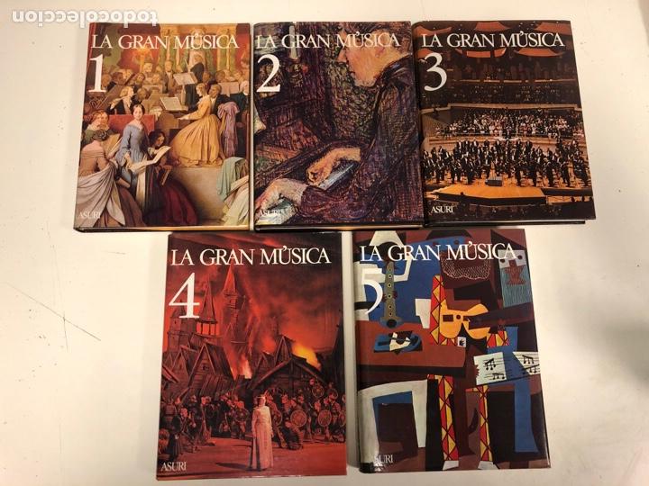 Libros de segunda mano: LA GRAN MÚSICA. 5 TOMOS (COMPLETA). ASURI DE EDICIONES 1990. ILUSTRADOS. - Foto 2 - 182705022