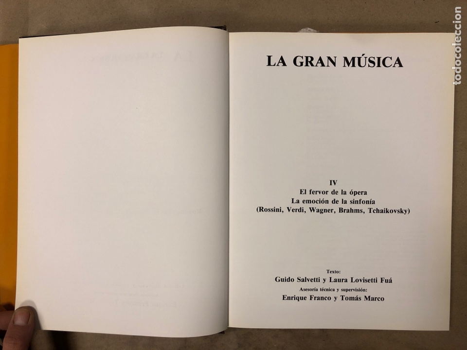Libros de segunda mano: LA GRAN MÚSICA. 5 TOMOS (COMPLETA). ASURI DE EDICIONES 1990. ILUSTRADOS. - Foto 32 - 182705022