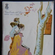 Libros de segunda mano: GRAN TEATRO DEL LICEO - TEMPORADA DE OPERA 1967-68 / 50 REPRESENTACIONES / PUBLICIDAD DE CINZANO. Lote 182753087