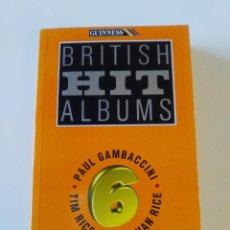 Libros de segunda mano: BRITISH HIT ALBUMS (1994 GUINNESS UK ) 448 PAGINAS BUEN ESTADO. Lote 186058373