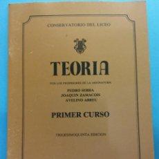 Libros de segunda mano: TEORÍA. 35 ED. PEDRO SERRA, JOAQUÍN ZAMACOIS, AVELINO ABREU. CONSERVATORIO DEL LICEO. BARCELONA. Lote 187313620