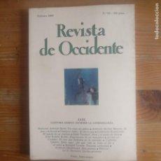 Libros de segunda mano: REVISTA DE OCCIDENTE. JAZZ. Nº 93 1989 . Lote 187375306