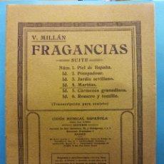 Libros de segunda mano: FRAGANCIAS. V. MILLÁN. UNIÓN MUSICAL ESPAÑOLA, EDITORES. Lote 189136926