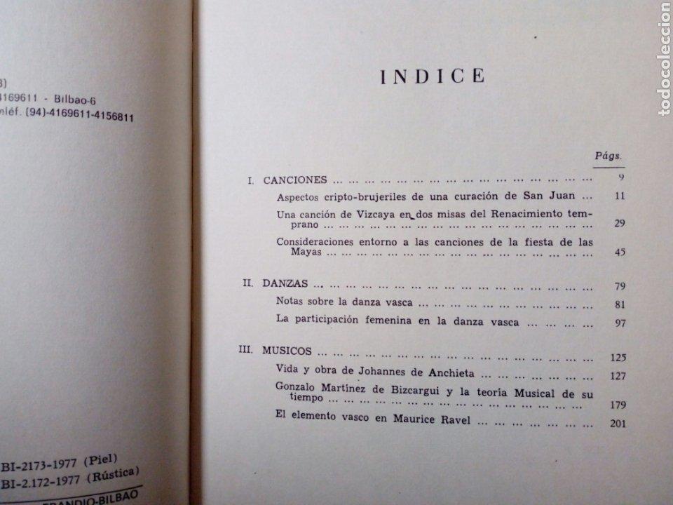 Libros de segunda mano: DE CANCIONES, DANZAS Y MUSICOS DEL PAIS VASCO (Enrique Jorda, 1978) Ed. La Gran Enciclopedia Vasca - Foto 4 - 189432263