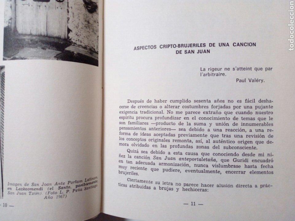 Libros de segunda mano: DE CANCIONES, DANZAS Y MUSICOS DEL PAIS VASCO (Enrique Jorda, 1978) Ed. La Gran Enciclopedia Vasca - Foto 5 - 189432263