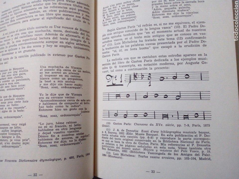 Libros de segunda mano: DE CANCIONES, DANZAS Y MUSICOS DEL PAIS VASCO (Enrique Jorda, 1978) Ed. La Gran Enciclopedia Vasca - Foto 6 - 189432263
