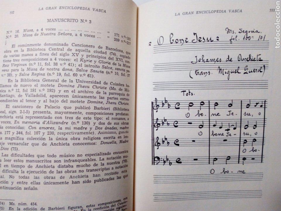 Libros de segunda mano: DE CANCIONES, DANZAS Y MUSICOS DEL PAIS VASCO (Enrique Jorda, 1978) Ed. La Gran Enciclopedia Vasca - Foto 8 - 189432263