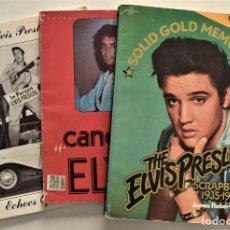 Libros de segunda mano: LOTE 3 LIBROS ELVIS PRESLEY EN INGLÉS: SOLID GOLD MEMORIES SCRAPBOOK 1935-1977 Y OTROS DOS. Lote 190004785