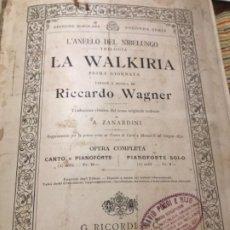Libros de segunda mano: R WAGNER LA WALKIRIA. Lote 190705756