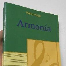Libros de segunda mano: ARMONÍA - WALTER PISTON. Lote 192253691