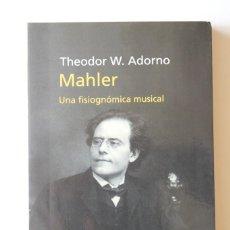Livros em segunda mão: THEODOR W. ADORNO - MAHLER. UNA FISIOGNÓMICA MUSICAL - PENÍNSULA 2ª EDICIÓN. Lote 192916883