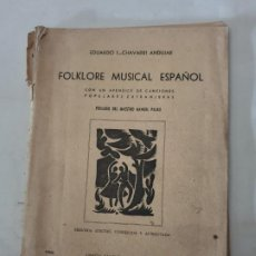 Libros de segunda mano: FOLKLORE MUSICAL ESPAÑOL. Lote 194195882