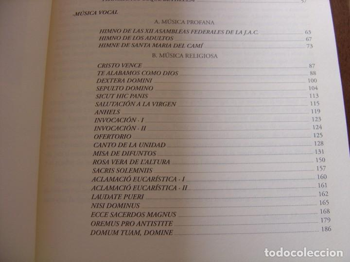 Libros de segunda mano: OBRES COMPLETES. MÚSICA ORIGINAL. PERE JOSEP MATAS I BOVER (1934-1998). SA POBLA, MALLORCA 2007 - Foto 8 - 194650948