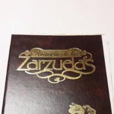 Libros de segunda mano: HISTORIA DE LAS ZARZUELAS. - GRUPO METROVIDEO MULTIMEDIA - 1996. Lote 195219986