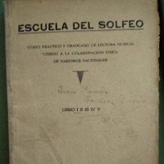 Libros de segunda mano: ESCUELA DE SOLFEO (MUSICAL EMPORIUM. Lote 195477677