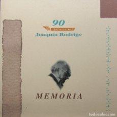 Libros de segunda mano: 90 ANIVERSARIO JOAQUÍN RODRIGO - MEMORIA. Lote 195480493