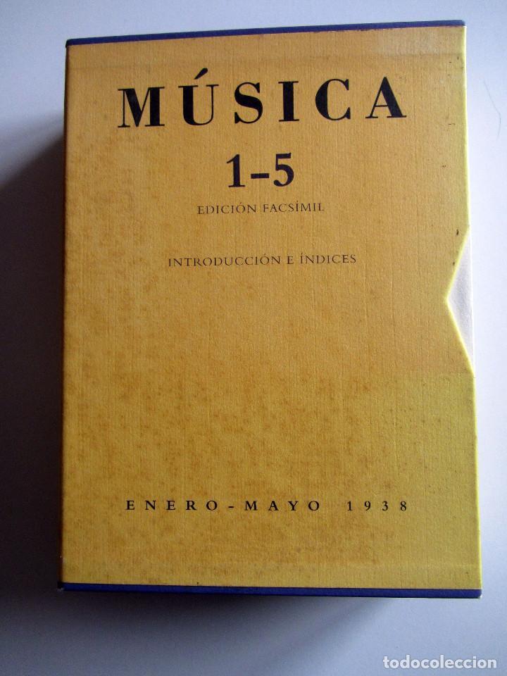 REVISTA MUSICA (FACSIMIL) RESIDENCIA DE ESTUDIANTES. 5 NUMEROS CON ESTUCHE. 1938 (Libros de Segunda Mano - Bellas artes, ocio y coleccionismo - Música)