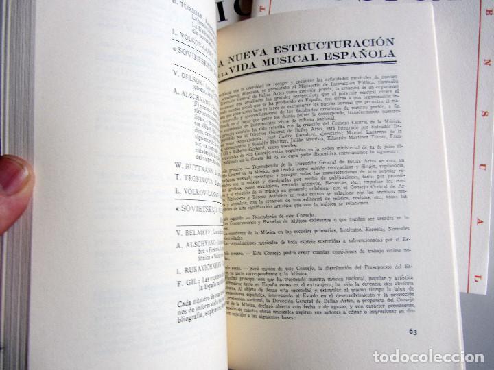 Libros de segunda mano: Revista MUSICA (Facsimil) Residencia de estudiantes. 5 numeros con estuche. 1938 - Foto 5 - 196641127