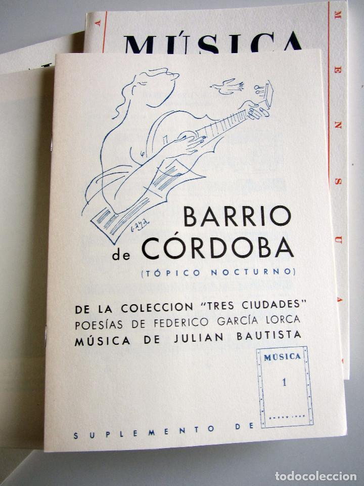 Libros de segunda mano: Revista MUSICA (Facsimil) Residencia de estudiantes. 5 numeros con estuche. 1938 - Foto 7 - 196641127