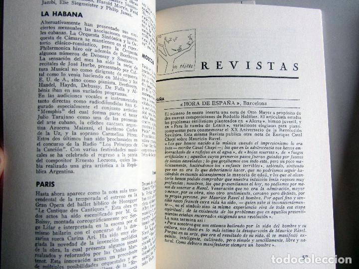 Libros de segunda mano: Revista MUSICA (Facsimil) Residencia de estudiantes. 5 numeros con estuche. 1938 - Foto 9 - 196641127