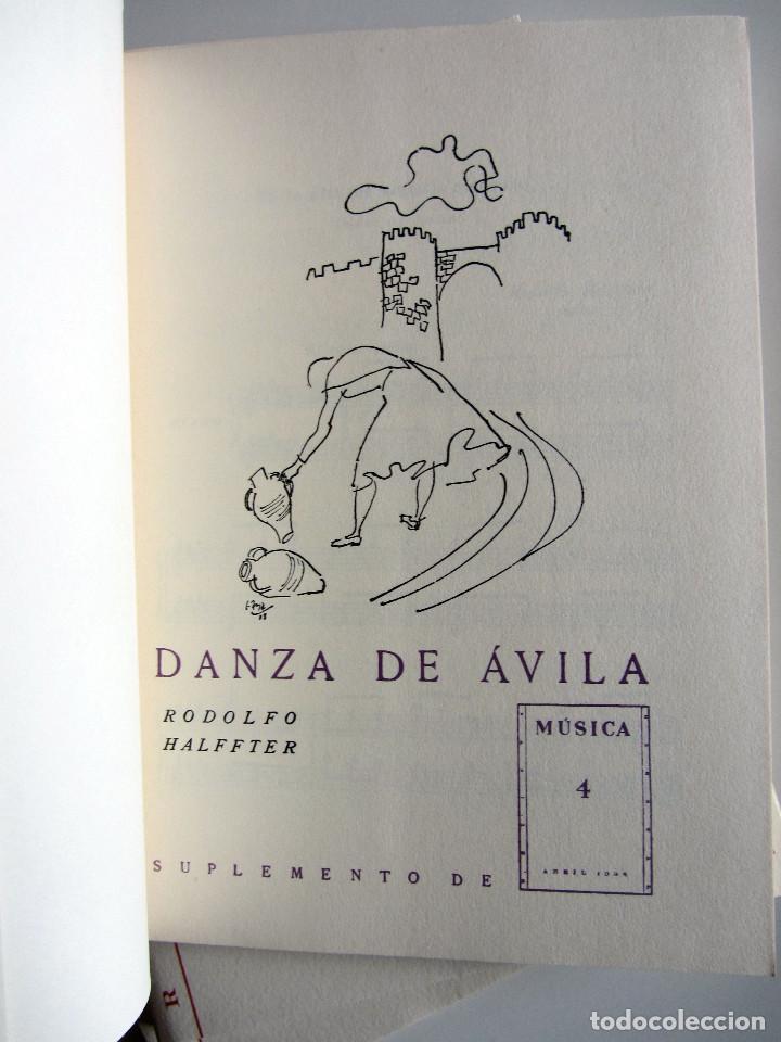 Libros de segunda mano: Revista MUSICA (Facsimil) Residencia de estudiantes. 5 numeros con estuche. 1938 - Foto 12 - 196641127