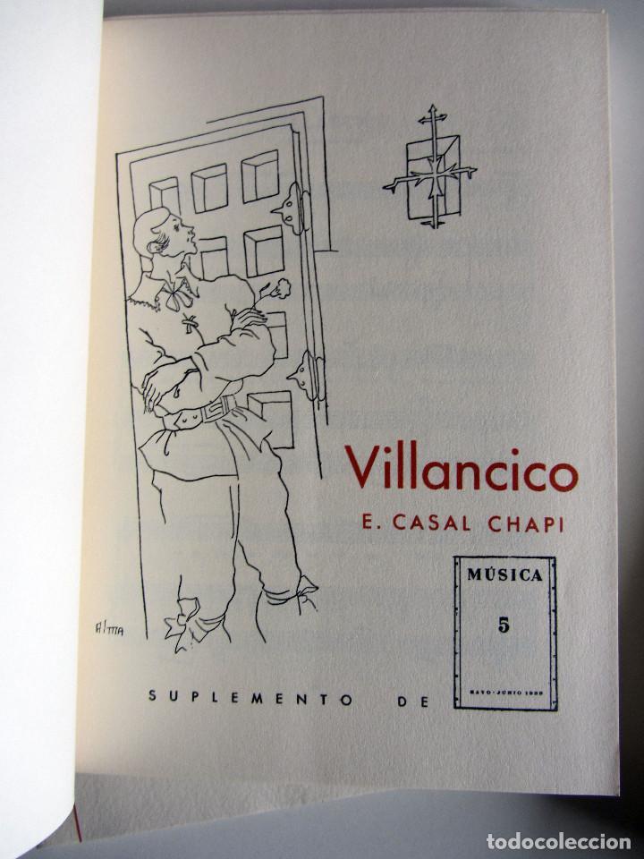 Libros de segunda mano: Revista MUSICA (Facsimil) Residencia de estudiantes. 5 numeros con estuche. 1938 - Foto 13 - 196641127