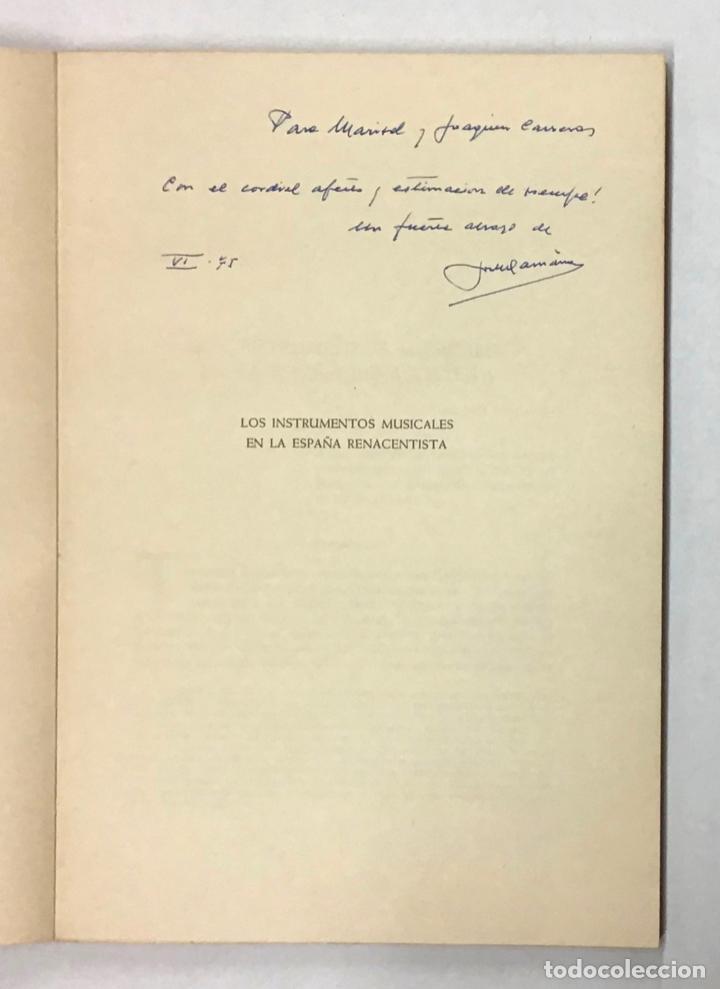 Libros de segunda mano: LOS INSTRUMENTOS MUSICALES EN LA ESPAÑA RENACENTISTA. - Foto 2 - 196782625