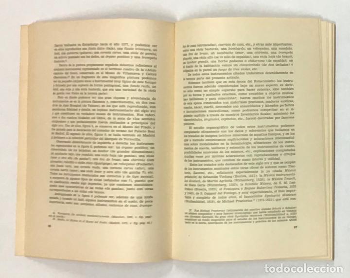 Libros de segunda mano: LOS INSTRUMENTOS MUSICALES EN LA ESPAÑA RENACENTISTA. - Foto 3 - 196782625