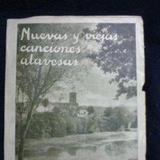 Libros de segunda mano: VITORIA. NUEVAS Y VIEJAS CANCIONES ALAVESAS. Lote 197430538