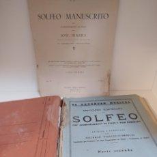 Libros de segunda mano: SOLFEO MANUSCRITO POR JOSÉ IBARRA 1ºCURSO Y EL PROGRESO MUSICAL SOLFEO 1955. Lote 197764151