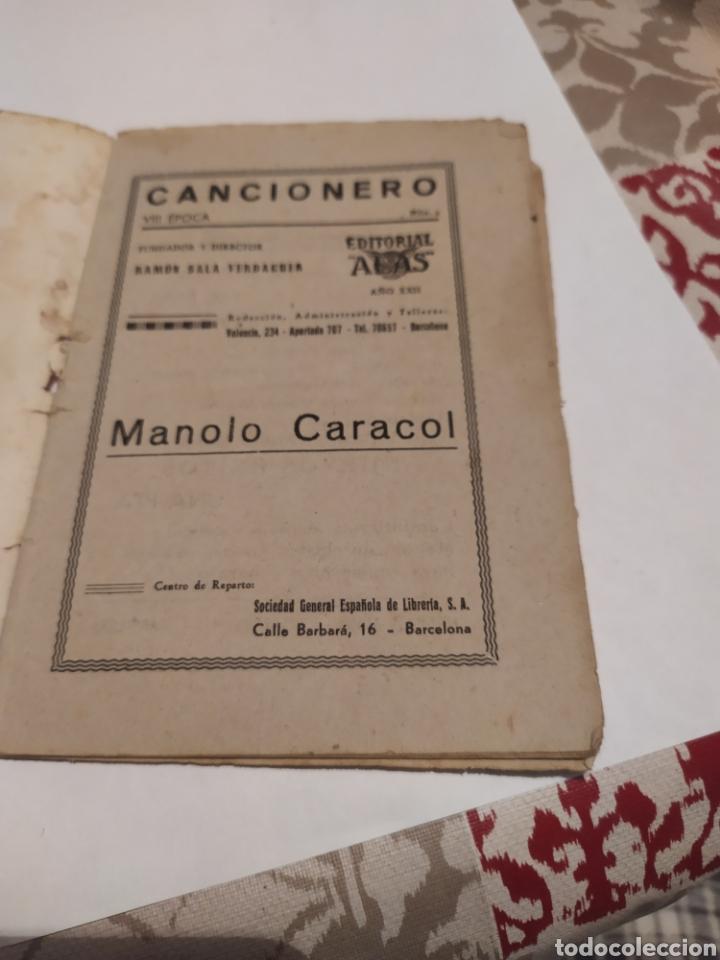 Libros de segunda mano: Manolo Caracol editorial alas año XXII cancionero muy rraro. - Foto 3 - 198378062