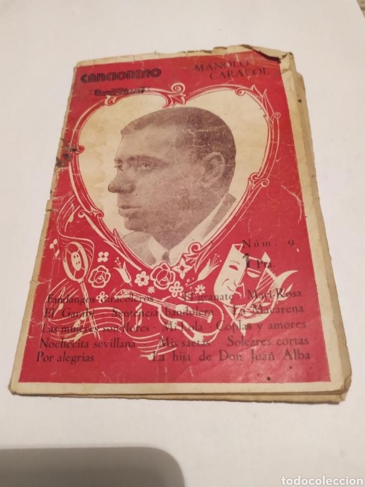 MANOLO CARACOL EDITORIAL ALAS AÑO XXII CANCIONERO MUY RRARO. (Libros de Segunda Mano - Bellas artes, ocio y coleccionismo - Música)