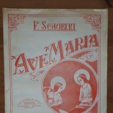 Libros de segunda mano: PARTITURA AVE MARÍA PARA PIANO. F. SCHUBERT.. Lote 198955583